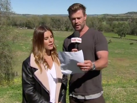 Avengers star Chris Hemsworth hijacks weather report and it's not even thundering