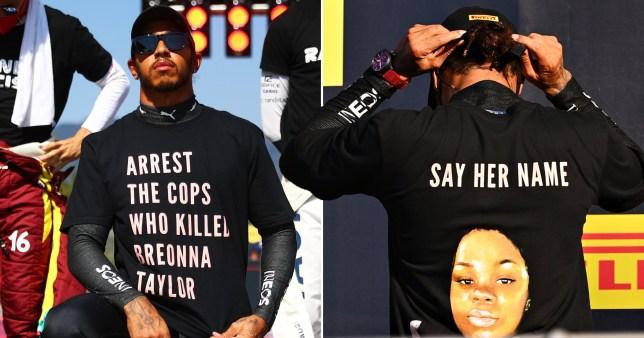 Lewis Hamilton wears Breonna Taylor t-shirt at Formula One race   Metro News