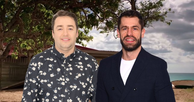 Jason Manford and Kelvin Fletcher for Death in Paradise