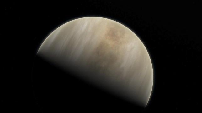 An artistic impression of the planet Venus.