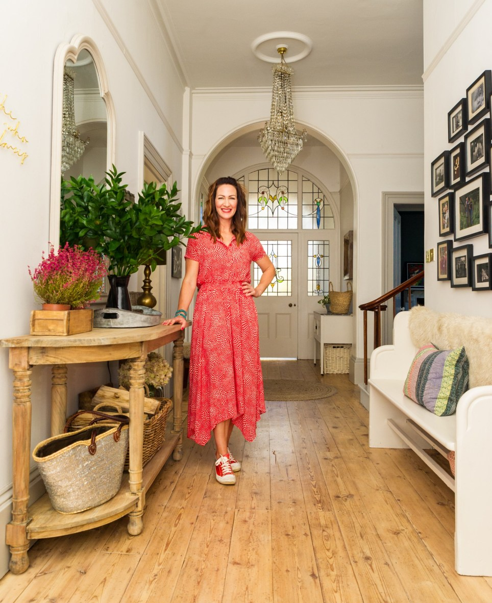 Interior designer Kate Hollingsworth in her detached Victorian five-bedroom home, in a conservation area in Hereford