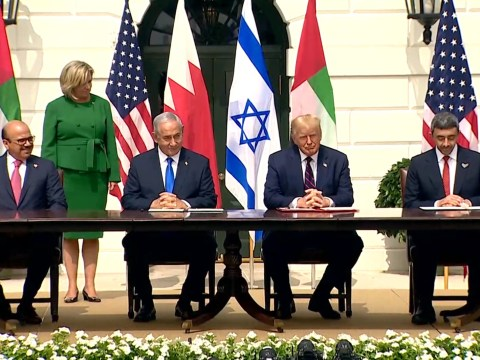 UAE and Bahrain sign peace deals recognising Israel in historic moment