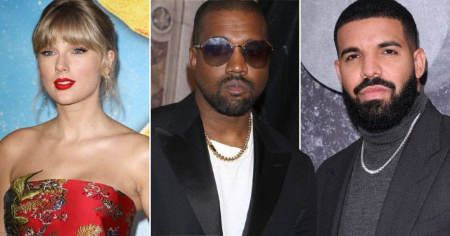 Kanye West Asks Rivals Drake And Taylor Swift To Help Change Music Contracts Metro News