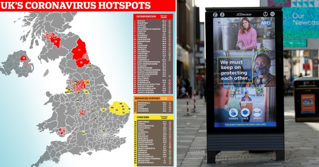 Map Shows Coronavirus Hotspots As North East Is Met With A Curfew Metro News