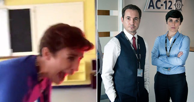 Line Of Duty's Martin Compston scares the living daylights out of Vicky McClure in hilarious clip