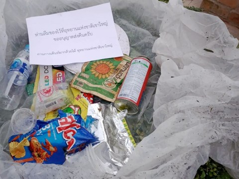 A Thai national park will post garbage back to litterbugs