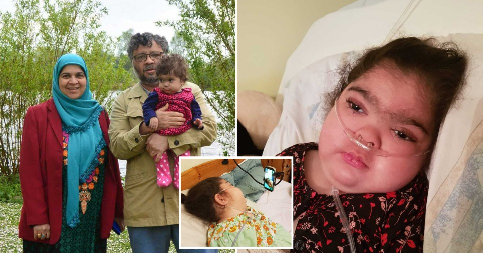 Parents Aliya and Rashid Abbasi can be seen holding their daughter Zainab who died last year from an incurable illness