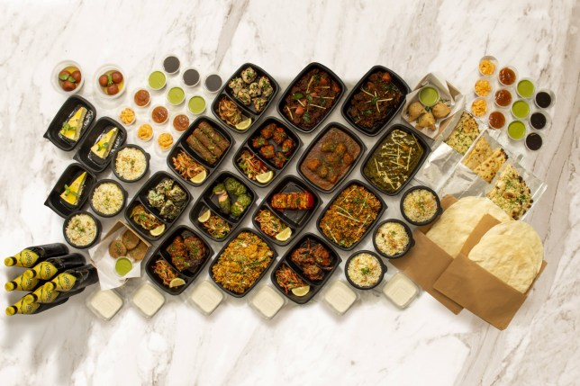 An Indian takeaway with 114 items