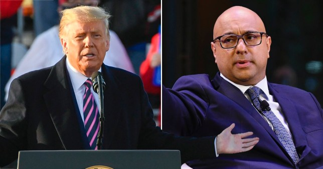 Composition showing Donald Trump and Ali Velish