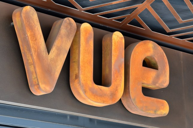 Vue cinema sign in London
