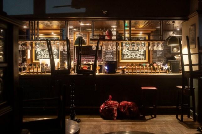 an empty london pub