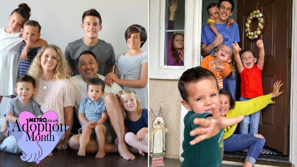 Couple adopts seven young siblings after their parents were killed in car crash
