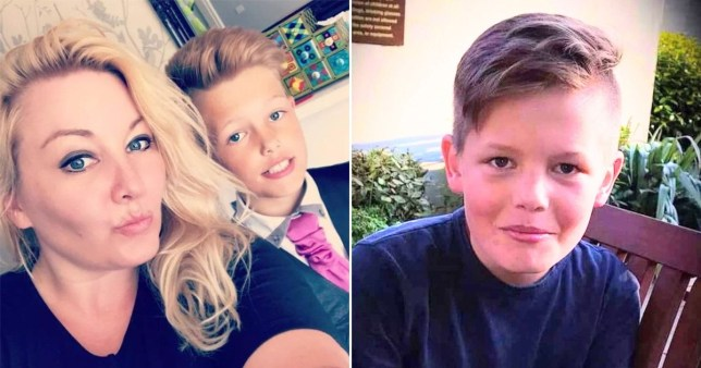 PIC FROM Kennedy News and Media (PICTURED: SAM TYLER, 14, WHO PASSED AWAY IN MAY, WITH MUM TRACEY TYLER, 40, FROM BEDWORTH, WARWICKSHIRE) A heartbroken mum believes her son would still be alive if school hadn't been cancelled due to Covid - as she claims he took his own life while feeling 'isolated' in lockdown. Tracey Tyler had taken on an extra night shift on the coronavirus ward at her local hospital when came home and found her son Sam [Tyler], 14, dead in his bedroom on May 25. The schoolboy had been 'laughing and joking' while playing online games with pals and planning trips with them - before telling them he would be 'back in two seconds'. DISCLAIMER: While Kennedy News and Media uses its best endeavours to establish the copyright and authenticity of all pictures supplied, it accepts no liability for any damage, loss or legal action caused by the use of images supplied and the publication of images is solely at your discretion. SEE KENNEDY NEWS COPY - 0161 697 4266.