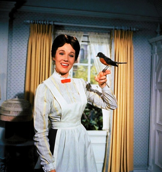 Editorial use only. No book cover usage. Mandatory Credit: Photo by Disney/Kobal/REX (5886101by) Julie Andrews Mary Poppins - 1964 Director: Robert Stevenson Walt Disney Pictures USA Film Portrait Family