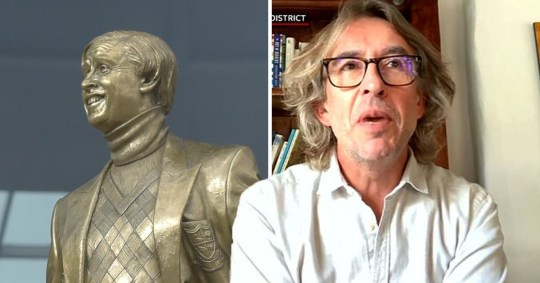 Steve Coogan flabbergasted by Alan Partridge statue Archant/ITV