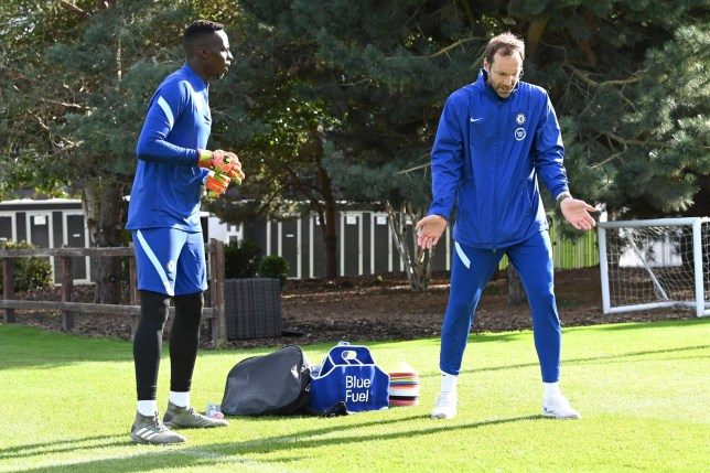 Petr Cech put new Chelsea signing Edouard Mendy through his paces at Cobham on Friday