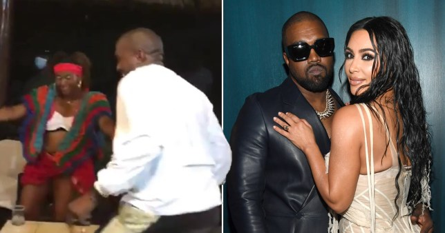 Kim Kardashian and Kanye West date night