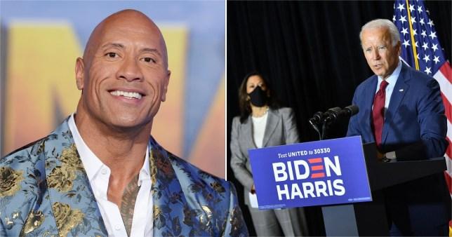 Dwayne Johnson endorses Joe Biden and Kamala Harris for the first time