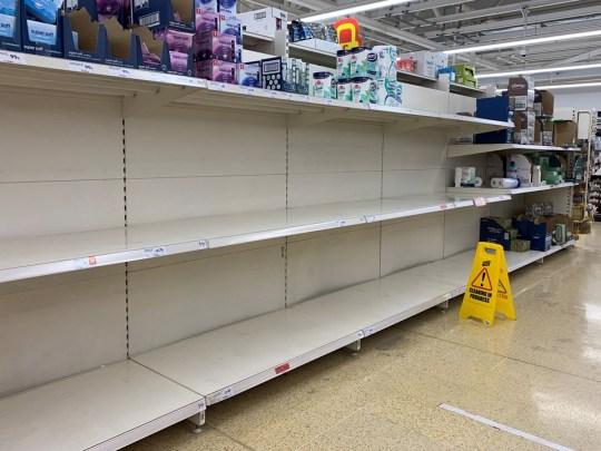 Panic buying warning as shelves empty again
