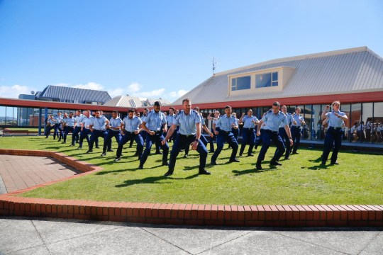 Police in New Zealand perform haka for murdered police officers including Met Police sergeant Matt Ratana