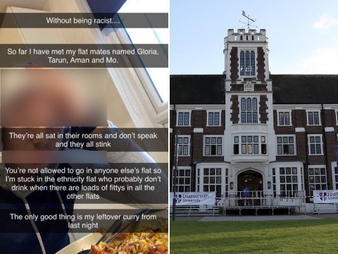 Student sent racist Snapchat saying he was stuck in 'smelly ethnicity flat'