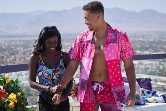Love Island USA -Justine Ndiba and Caleb Corprew