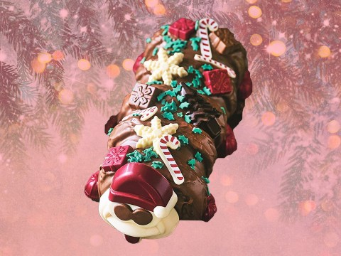 M&S releases festive Colin the Caterpillar cake with a fetching little Santa hat on