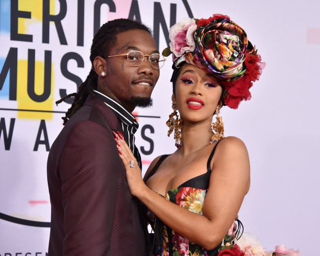 LOS ANGELES, CA - OCTOBER 09: Offset and Cardi B attend the 2018 American Music Awards at Microsoft Theater on October 9, 2018 in Los Angeles, California. (Photo by David Crotty/Patrick McMullan via Getty Images)