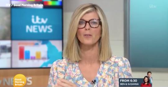 Kate Garraway wearing glasses on Good Morning Britain