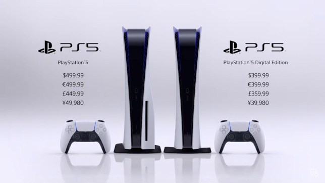 PS5 console UK price