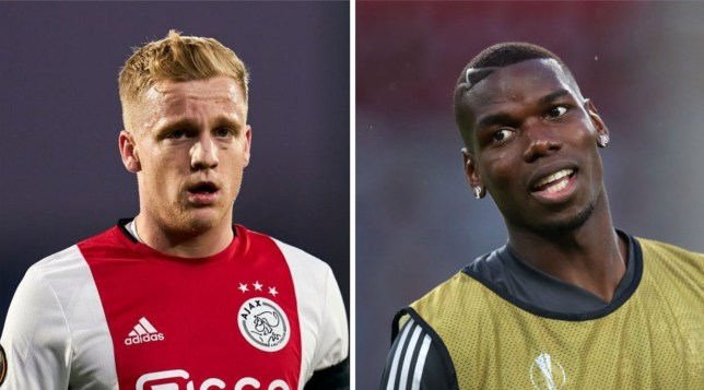 Danny Murphy claims Paul Pogba will leave Manchester United after the arrival of Donny van de Beek