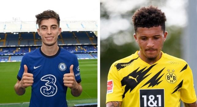 New Chelsea signing Kai Havertz and Manchester United transfer target Jadon Sancho
