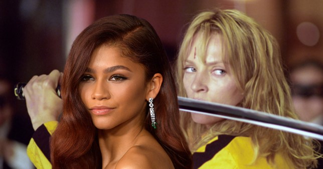 Zendaya and Uma Thurman in Kill Bill