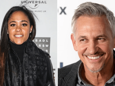 Gary Lineker congratulates Alex Scott as she 'replaces Sue Barker on A Question Of Sport'