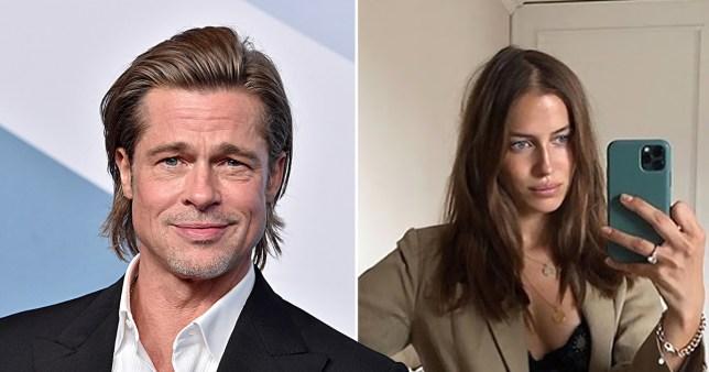 Brad Pitt pictured separately alongside model Nicole Poturalski
