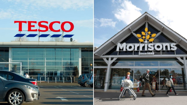 Tesco and Morrisons