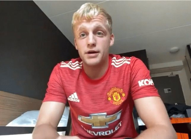 Donny van de Beek completed a £40m move to Manchester United