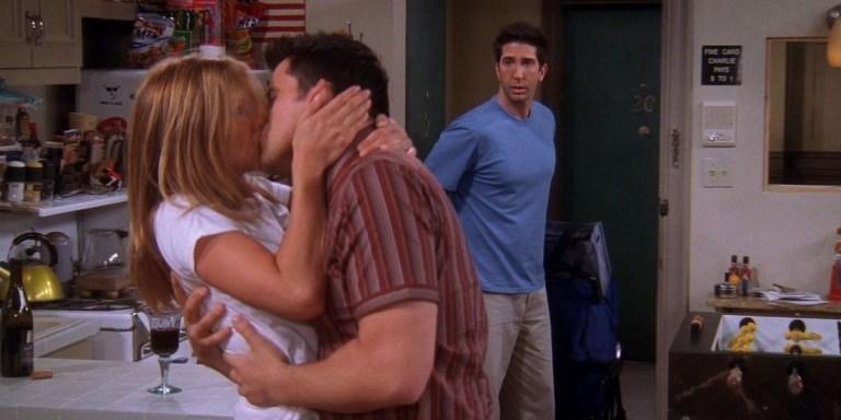 Rachel and Joey in Friends (Jennifer Aniston and Matt LeBlanc)