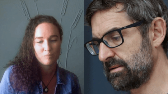 Megan Phelps Roper and Louis Theroux