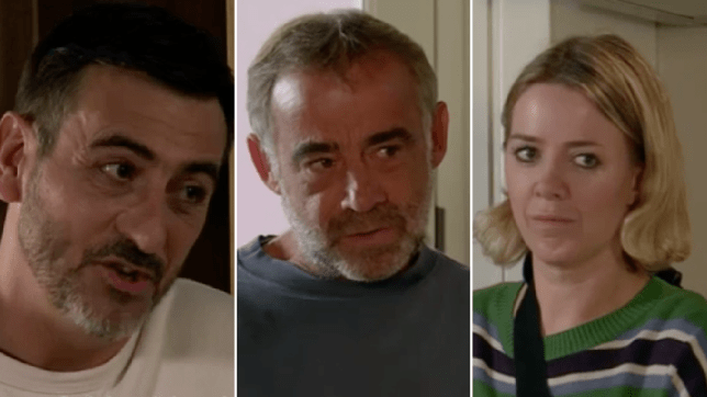 Peter, Kevin and Abi in Coronation Street