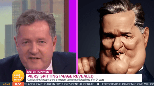Piers Morgan's Spitting Image puppet
