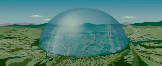 The Simpsons Movie dome.
