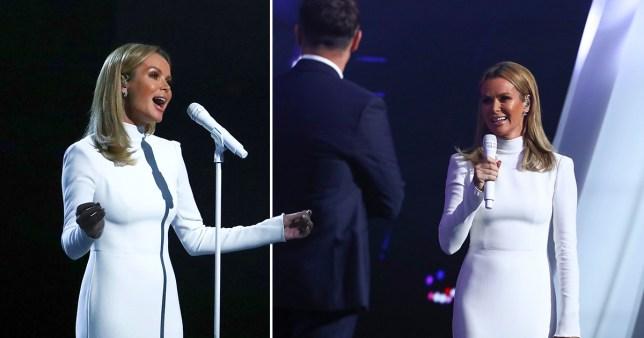 Amanda Holden performing on Britain's Got Talent