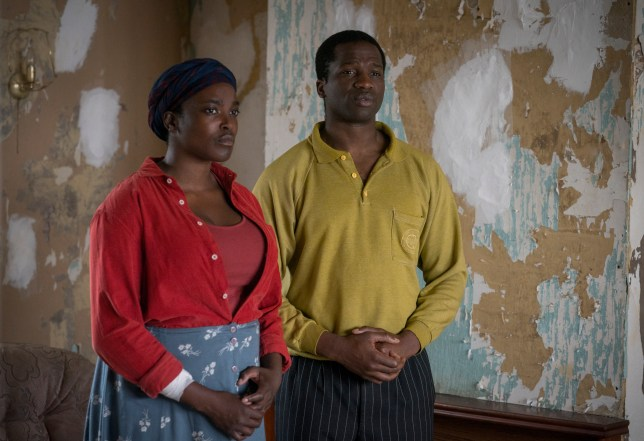 Wunmi Mosaku and Sope Dirisu in His House