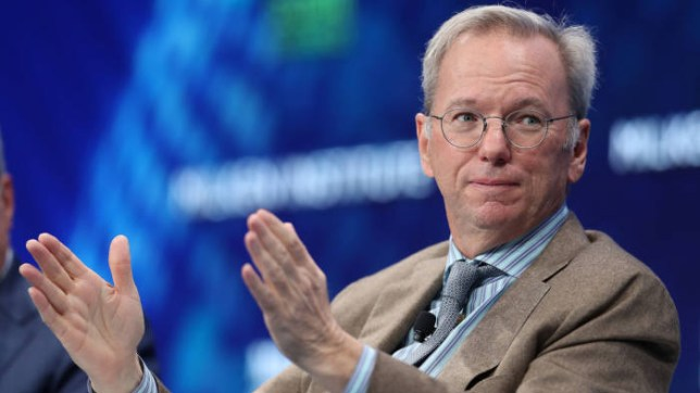 Eric Schmidt, the former CEO of Google, left the company in 2019 (Reuters)