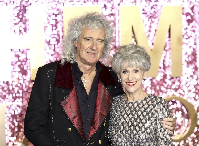 Brian May and his wife Anita Dobson