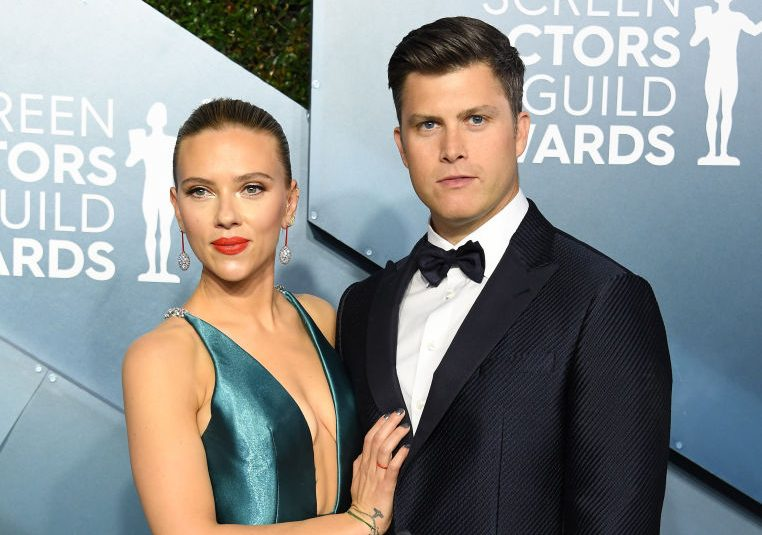 Scarlett Johansson and Colin Jost at the SAG Awards