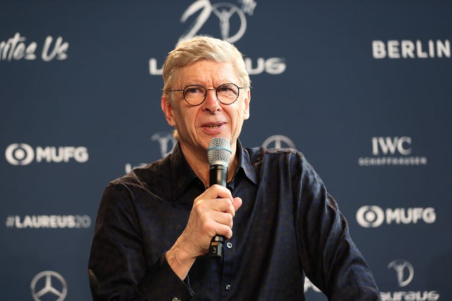 Former Arsenal manager Arsene Wenger speaks at a conference