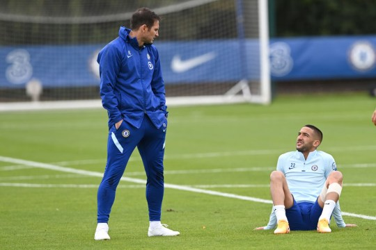 Frank Lampard says he has been impressed with Hakim Ziyech in Chelsea training