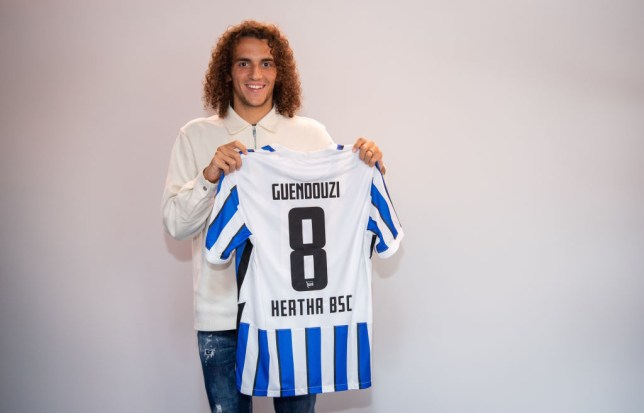 Guendouzi has made the switch to Hertha Berlin on loan